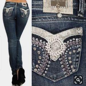 LA IDOL Skinny Bling Jeans 11 33/31 1/2